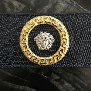 GIANNI VERSACE - 90s iconic medusa leather belt